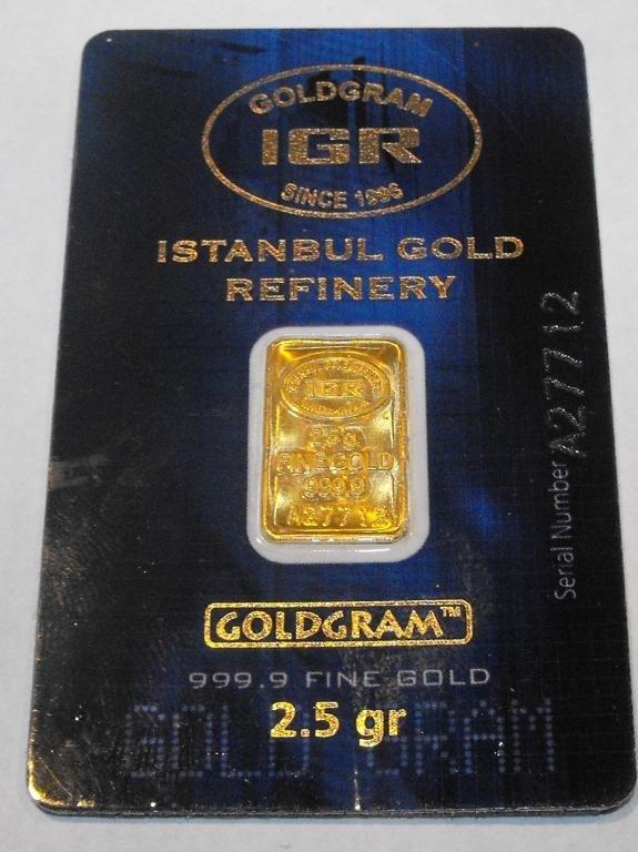 4: IGR Goldgram 2.5 GRAM Pure 999.9 Ingot