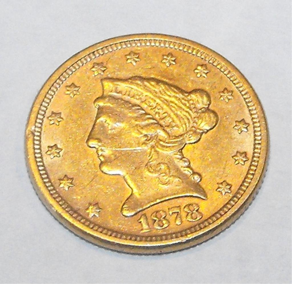 8: 1878 P $ 2.5 Gold Liberty Coin