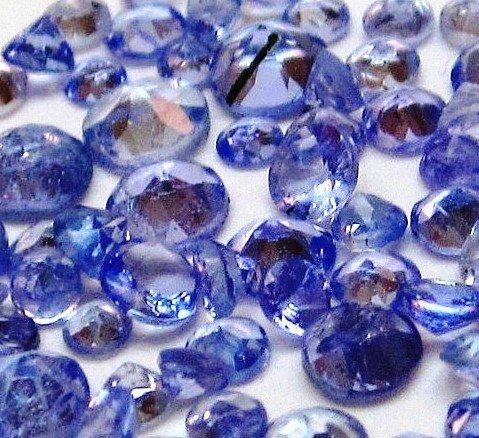 1Z: GW- Lot of 200 tcw. Tanzanite Faceted Gemstones