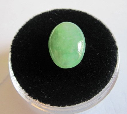 2W: 3.85 ct. Natural Type A Jadeite Cabachon Cut