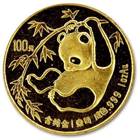 72: A 1 oz. Gold Chinese Panda Bullion