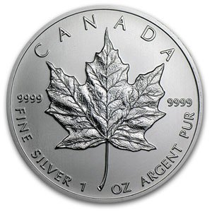 2C: A 1 oz. Silver Maple Leaf Bullion