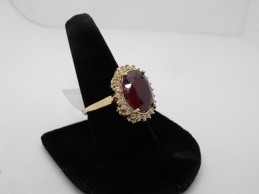 6: Fancy 14.94 ct. Ruby & 1.11 ct. Diamond Ring