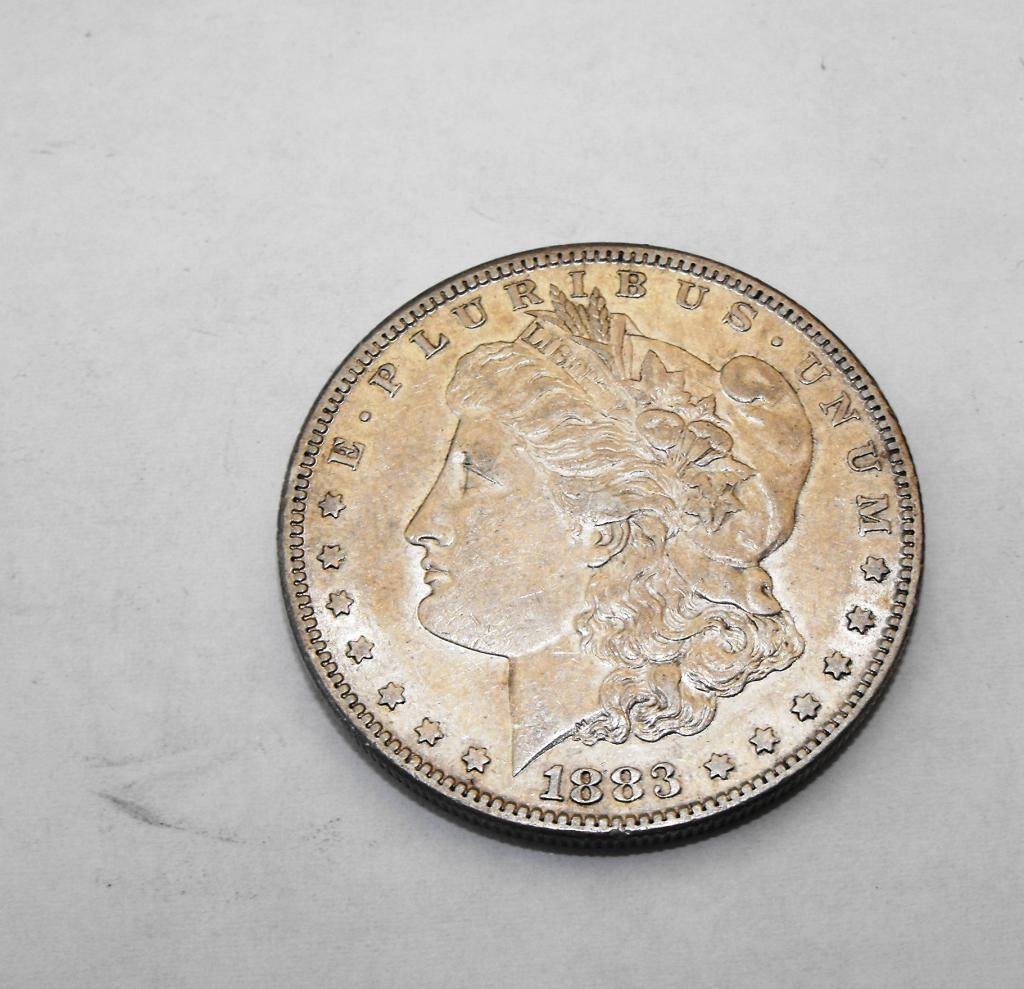 44: 1883 S KEY DATE Morgan Dollar