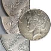 196 1923 PDS Peace Silver Dollar Trio  VF