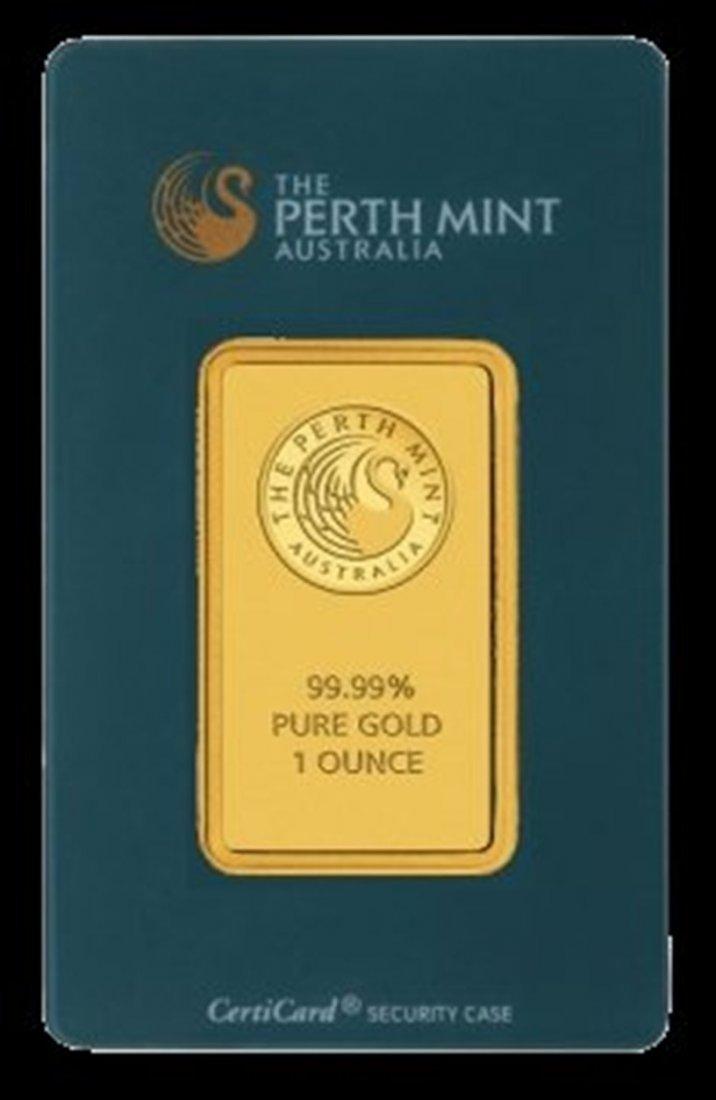 7O: 1oz Perth Gold Bar .9999 Pure