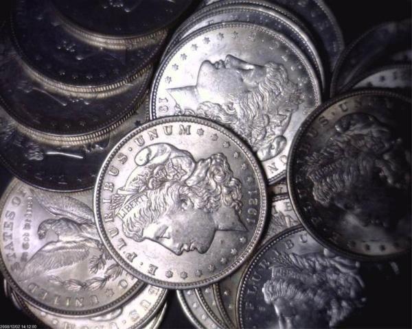 3S: Lot 10 Morgan UNCIRCULATED Dollars