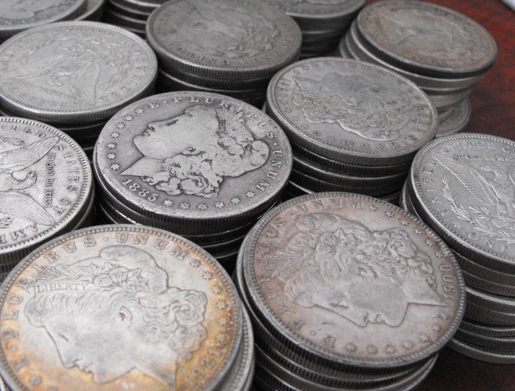 3X: Lot of 50 Morgan Silver Dollars