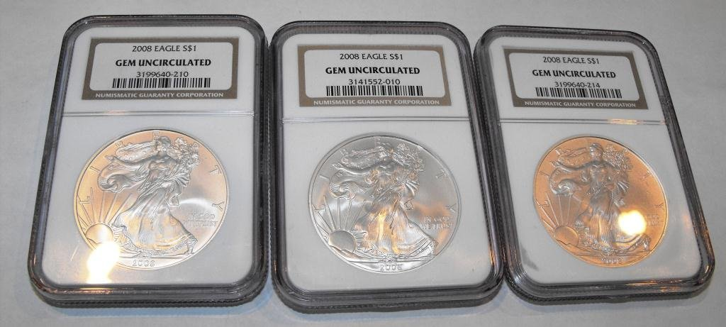 4: Lot of (3) Gem Brilliant ASE NGC
