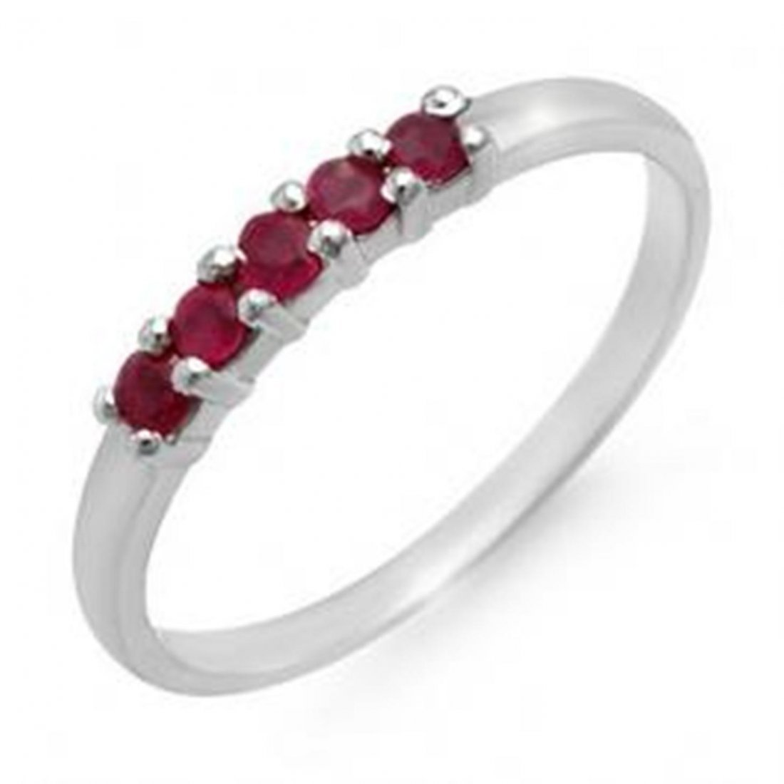 1A: 0.25 ctw Ruby Ladies Ring 10K
