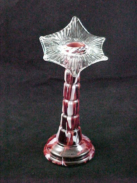 2G: Art Deco Spatter Glass J.I.P. Vase