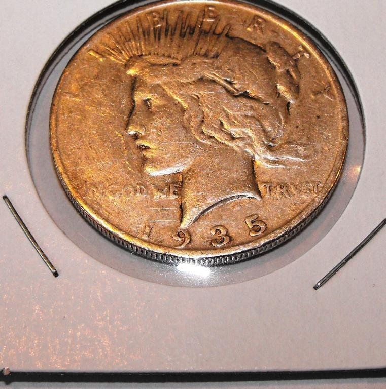 2X: 1935 S Key Date Peace Dollar