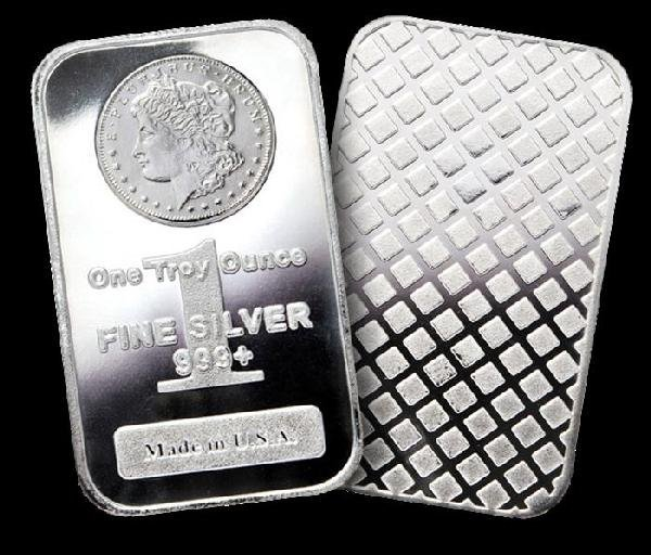 144S: Lot of (20) Morgan Design SIlver Bars