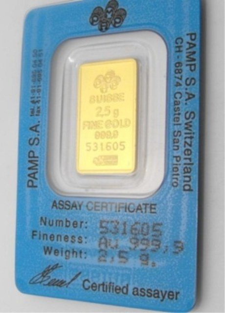 2E: 5 Gram PAMP SUISSE GOLD INGOT