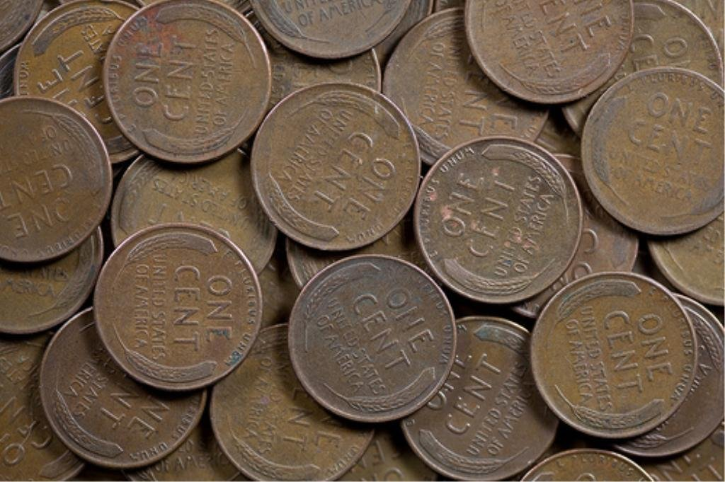 2O: Lot of 100 Wheat Cents