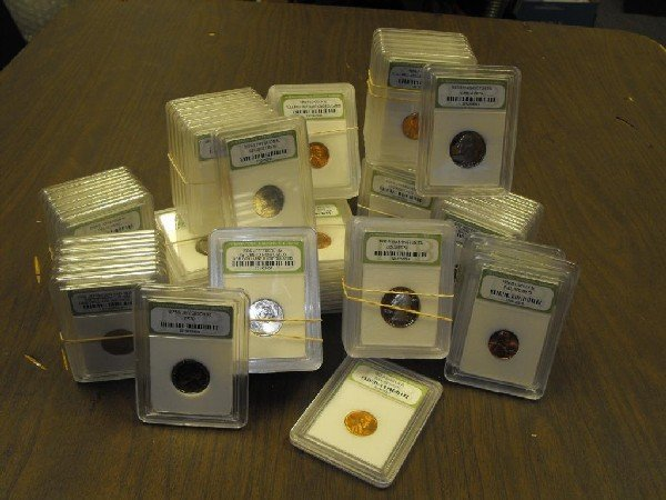 2: A Lot of 100 Slabbed MS Grade BU Plus Coins