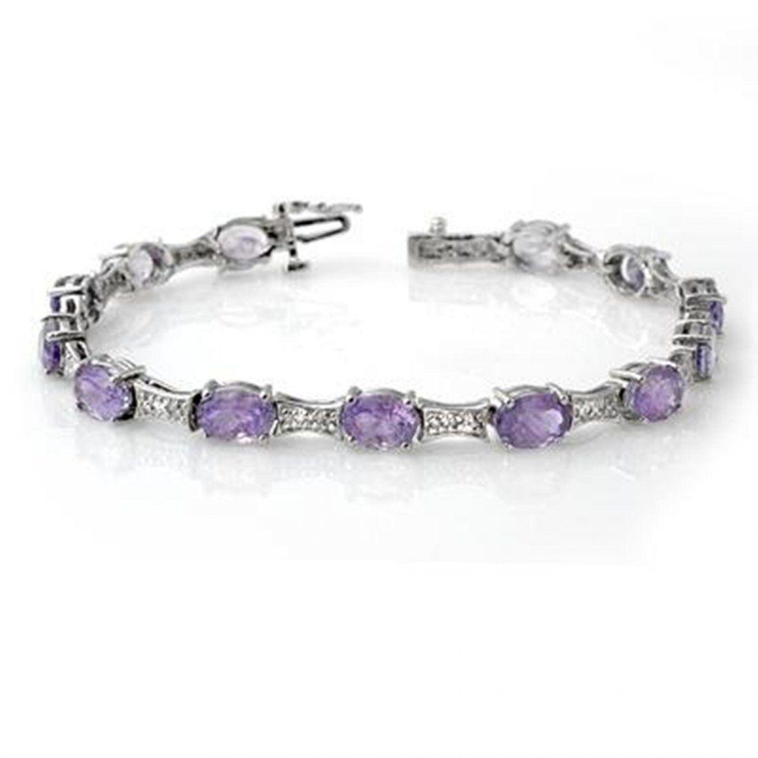 Genuine 12.04 ctw Tanzanite & Diamond Bracelet 10