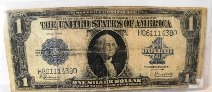 1Z: 1923 Large Funny Back Silver Certificate