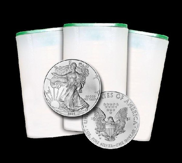 31: Lot of 60 Silver Eagle Bullion