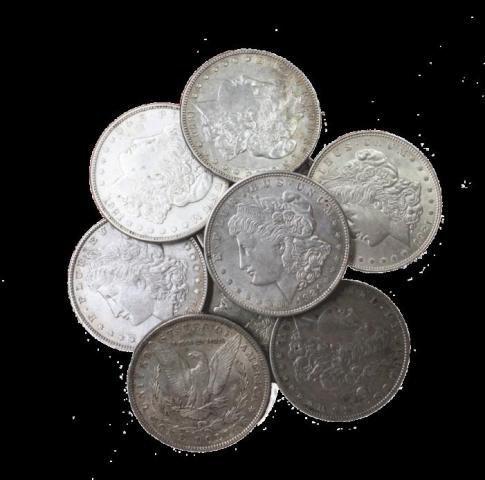7S: Lot of 10 UNC Morgan Dollars