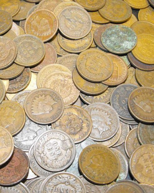 291S: Lot of (100) Indian Head Cents