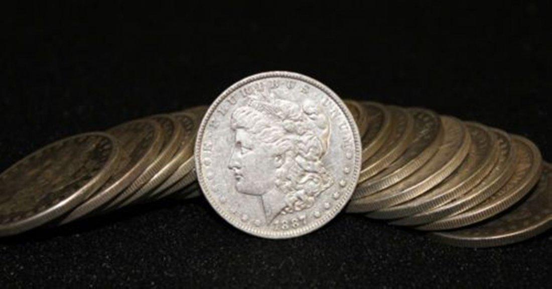 1G: JG- Lot of 20 Morgan Silver Dollar AU-BU Grade