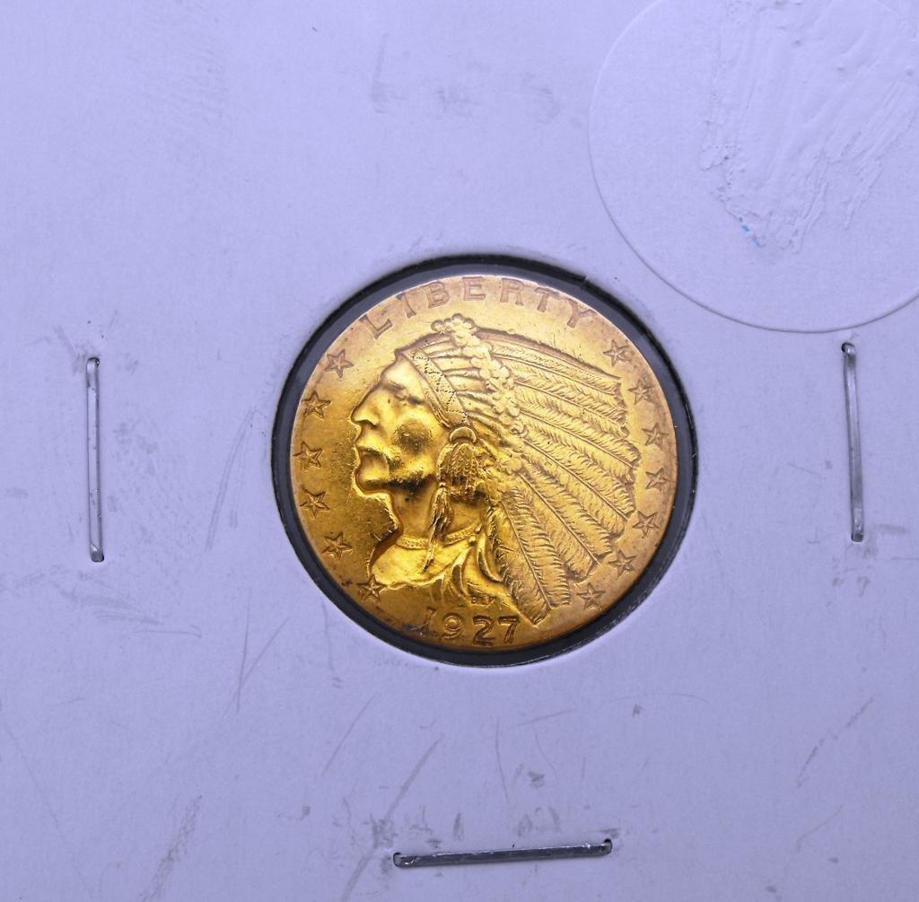 1C: 1927 $2.5 Gold Indian Quarter Eagle