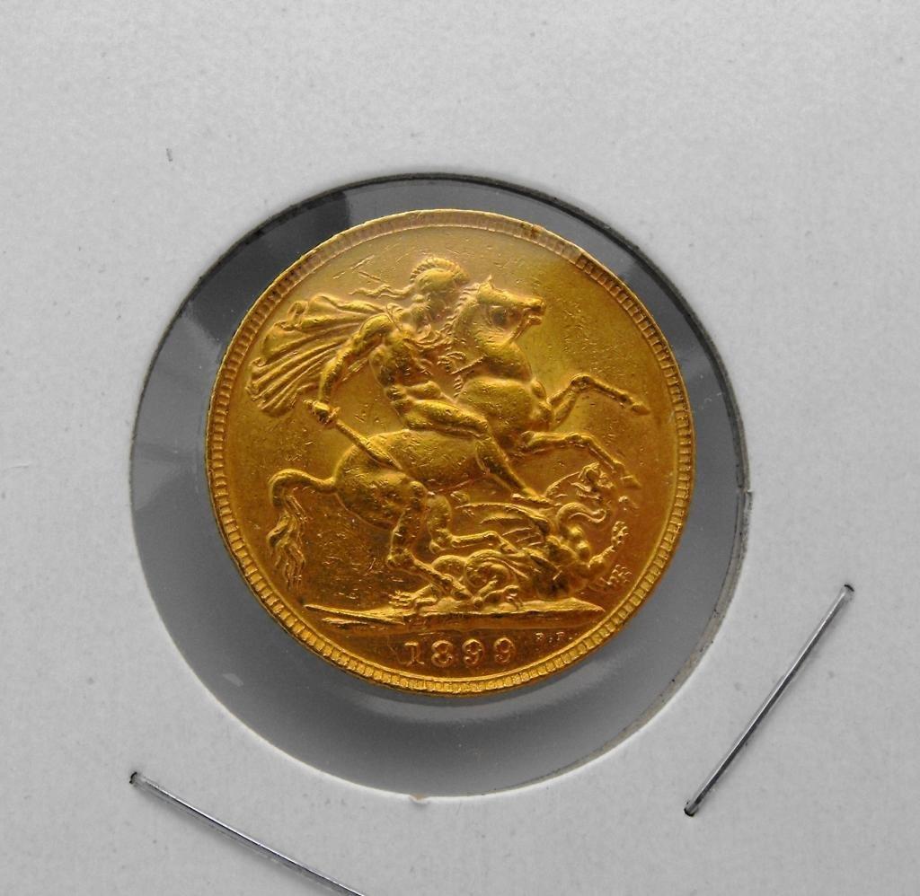 4C: 1899 British Full Sovereign King George