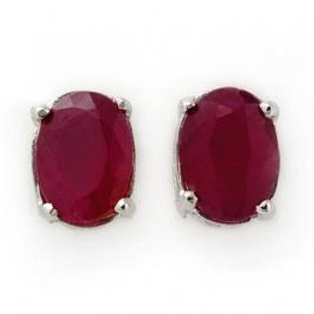 7J: 1.50 ctw Ruby Stud Earrings 14K