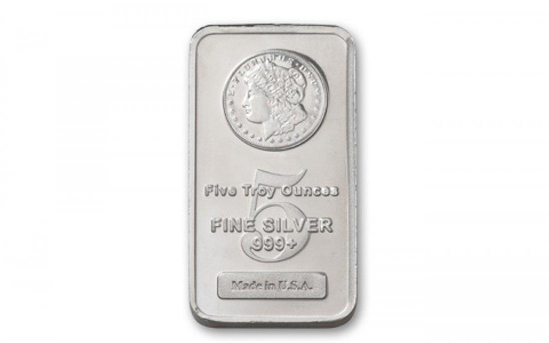 2Z: 5 oz. Silver Morgan Design Bar