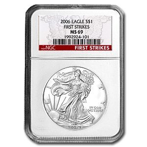 4Z: 2006 first Strike MS 69 NGC US Silver Eagle