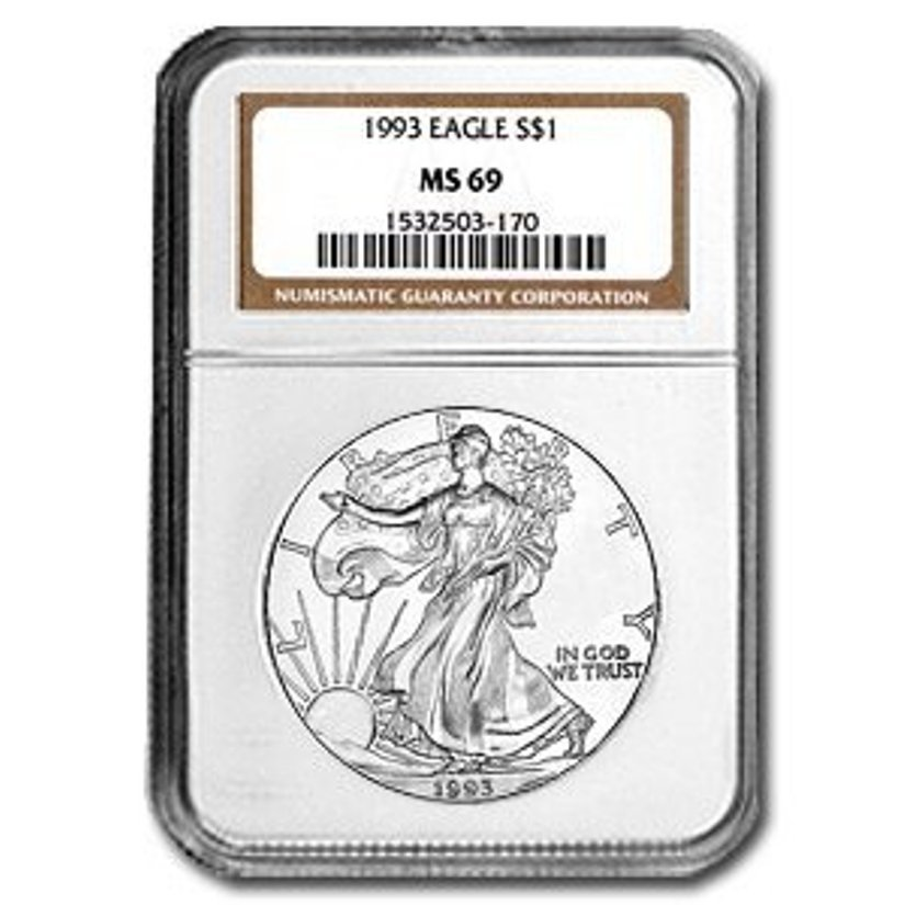 5Z: 1993 US Silver Eagle MS 69 NGC