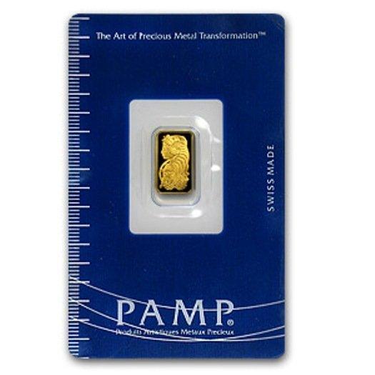 1B: 1 Gram Pamp Suisse Ingot