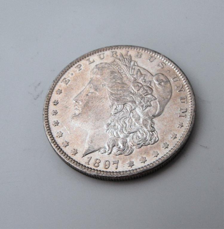 2A: 1897 P BU Morgan Dollar