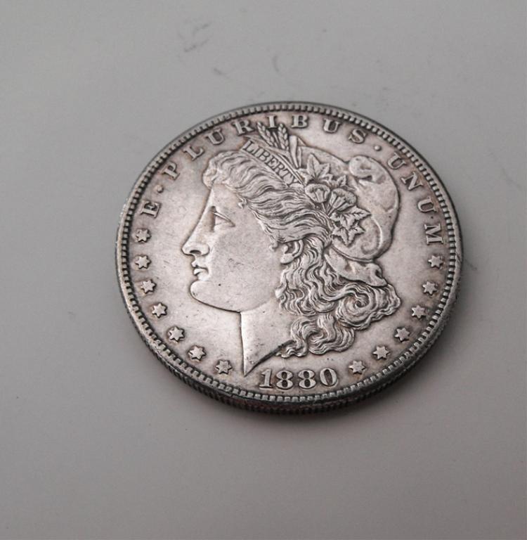 3A: 1880 S Morgan Silver Dollar