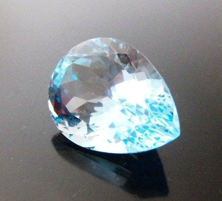 4: 41.65 Pear Shape Blue Topaz Gemstone