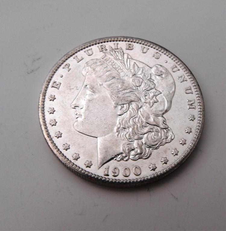 4A: 1900 P AU Grade Morgan