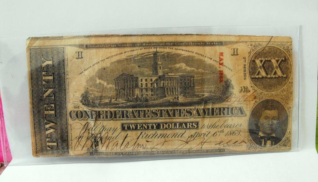 4R: $20 Confederate States XX Note