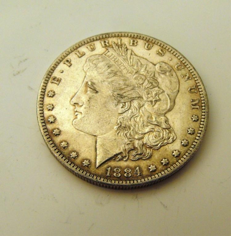 5A: 1884 o Morgan Silver Dollar
