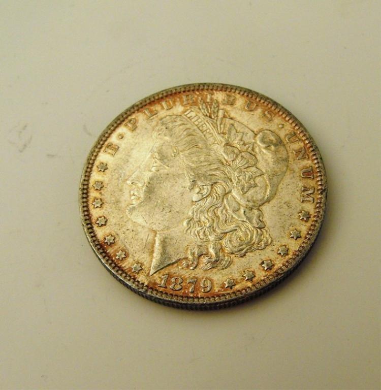 6A: 1879 P BU Morgan Dollar Toned