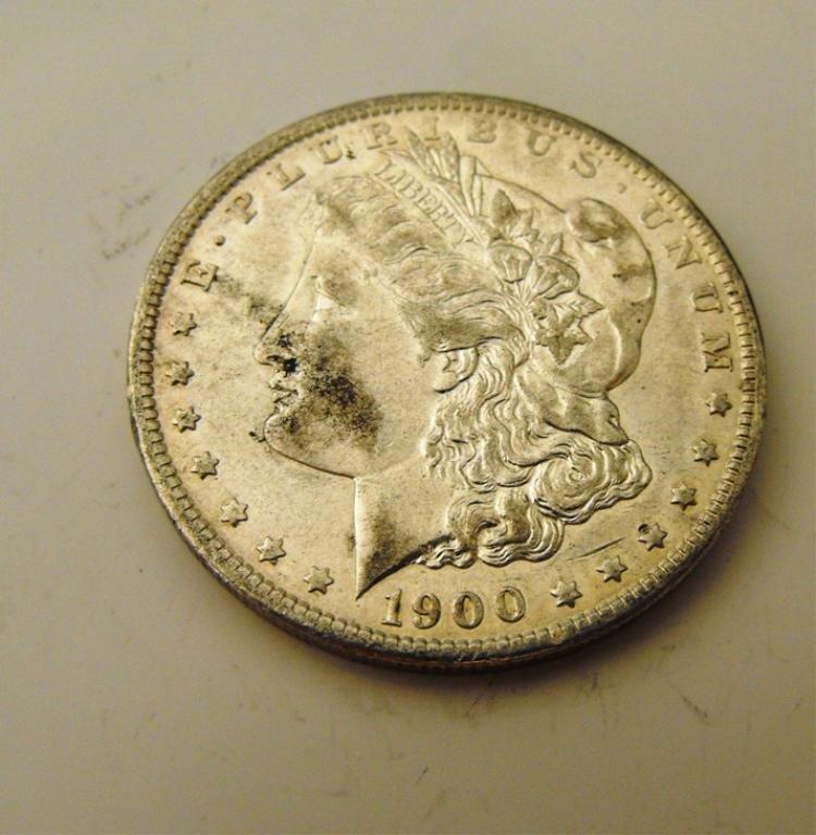 7A: 1900 o BETTER Later Date in BU Morgan Dollar