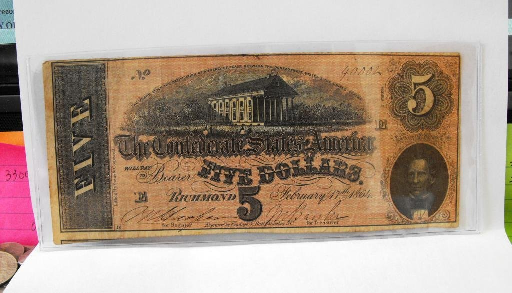 7R: $5 Confederate States Note