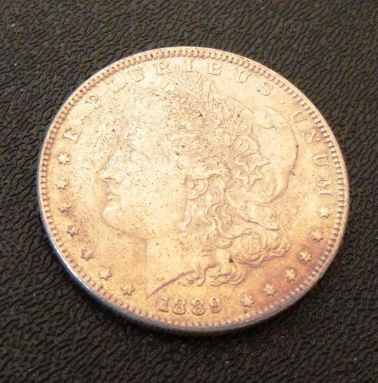 1: 1889 P Morgan Silver Dollar