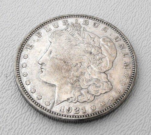 2: 1921 Morgan Silver last year minted