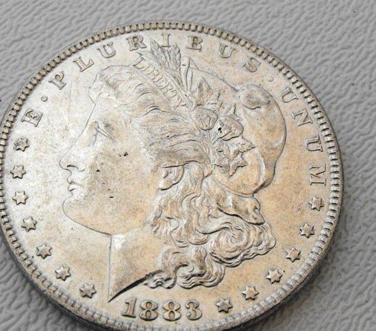 3: 1883 P Morgan Silver Dollar