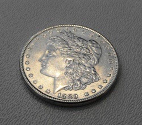 5: 1889 P Morgan Silver Dollar