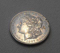 8: 1887 P Morgan Silver Dollar