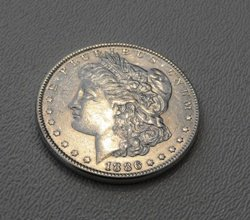10: 1886 P Morgan Silver Dollar