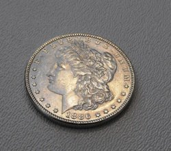 12: 1886 P Morgan Silver Dollar