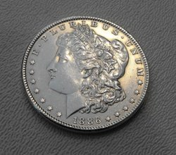 18: 1886 P Morgan Silver Dollar